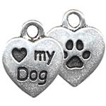 P2200S: Pewter Love My Dog Charm