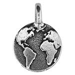 P2408S: Pewter Earth Charm