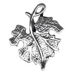 S723: Sterling Silver Grape Leaf Charm