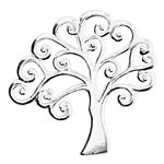 S7326: 26.6x25.5mm Large Scroll Tree Pendant, 3.8mm Closed Ring ID