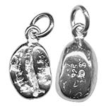 SD151: Sterling Silver 3D Coffee Bean Charm