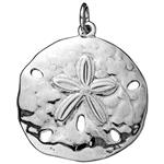 SD335: Sterling Silver Large Sand Dollar Pendant