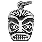 SN863: Sterling Silver Tiki Face Mask Charm