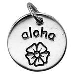 SN869: Sterling Silver Aloha Hawaiian Flower charm
