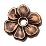 P53C: Pewter Blossom Rivet Charm Copper Finish