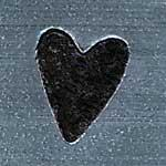 XPE10: Solid Skinny Heart Metal Stamp