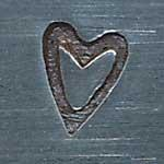XPE310: Narrow Heart Metal Stamp