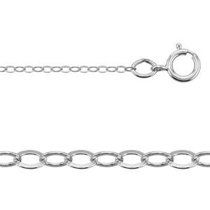 21020F18: Sterling Silver Light Cable Necklace Chain