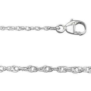 210RL30: Sterling Silver Double Rope Neck Chain with Lobster Claw Clasp