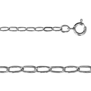 2120DF18: Sterling Silver Drawn Flat Cable Necklace Chain