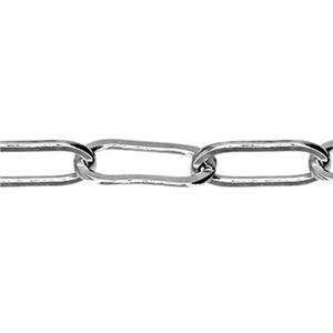 2125DF: Sterling Silver Drawn Flat Cable Chain