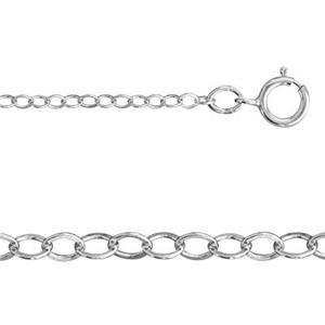 21316F14: Sterling Silver Flat Cable Chain Necklace