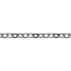 21325F: Sterling Silver 1.3mm Flat Cable Chain