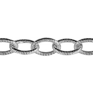 21417: Sterling Silver Heavy Textured Cable Chain