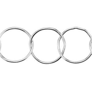 21509: Sterling Silver Round Circle Chain