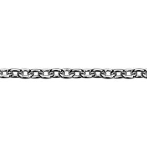 215CB: Sterling Silver 1.5mm Round Cable Chain