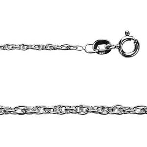 215R18: Sterling Silver Double Rope Chain Pendant Necklace