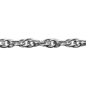 216R: Sterling Silver 2mm Double Rope Jewelry Chain