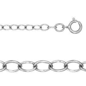 21808S18: Satin Cable Chain with Spring Ring