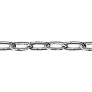 21809DF: Sterling Silver Drawn Flat Cable Chain