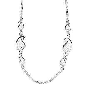 2203518: Sterling Silver Singapore Paisley Chain Necklace