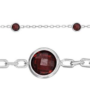 2215JANCZ: Cable Chain, 4mm January Garnet CZ