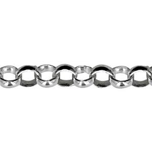 2215: Sterling Silver Light Open Rollo Chain