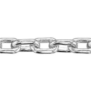 2240: Sterling Silver Super Heavy Beveled Cable Chain Footage