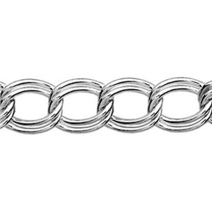 229: Sterling Silver Parallel Curb Chain