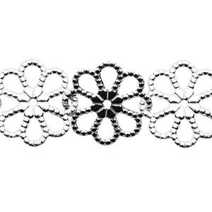 2367: Sterling Silver Daisy Flower Chain