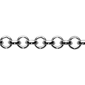 2485: Sterling Silver Rollo Jewelry Chain