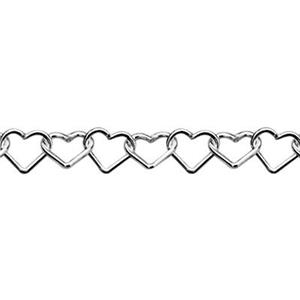 2495: Sterling Silver Heart Chain