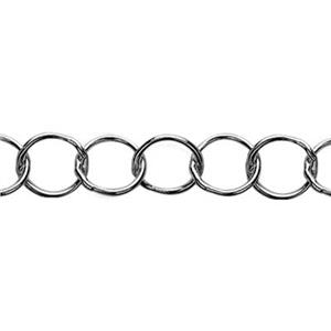 2507: Sterling Silver Round Link Cable Chain