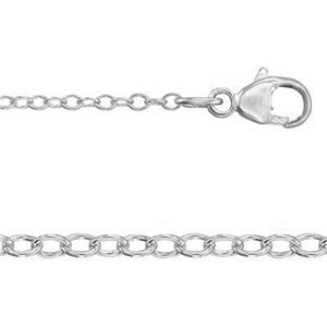 2520L18: Sterling Silver Light Cable Neck Chain with Lobster Claw Clasp