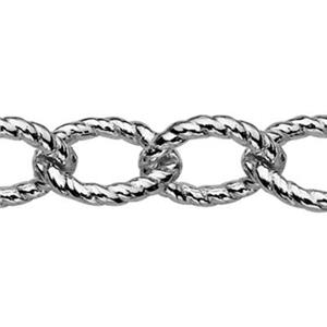 2617: Sterling Silver Large Heavy Twist Cable Chain