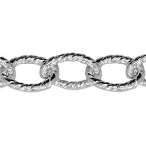 274TW: Sterling Silver Heavy Twisted Oval Chain