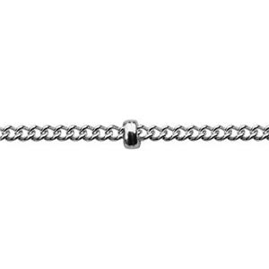 2844: Sterling Silver Saturn Curb Chain