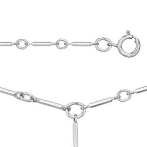 28730Y18: 18in, 2.5mm Bar Y-Necklace with Spring Ring