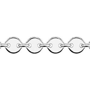 28860: Sterling Silver 4mm Round Circle Sequin Blank Chain