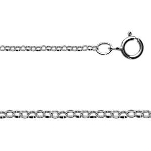 288718: Sterling Silver Rolo Chain Necklace