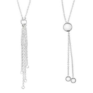 2BL4830: Cable Bolo Lariat Reversible Necklace