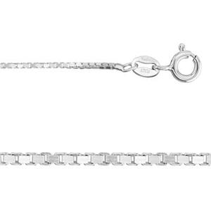 2BX120: Sterling Silver Box Chain Necklace