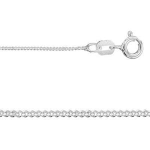 2CD2520: Sterling Silver Light Tiny Curb Chain with Spring Ring
