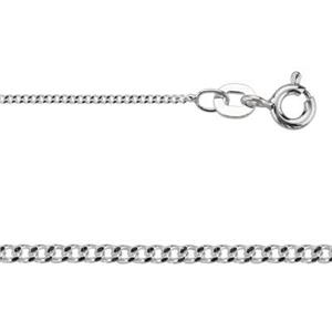 2CD3018: Sterling Silver Fine Curb Chain Necklace