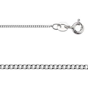 2CD3024: Sterling Silver Curb Chain with Spring Ring