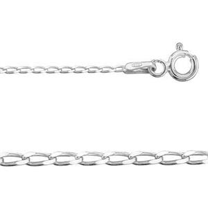 2CD3520: Sterling Silver Curb Chain with Spring Ring