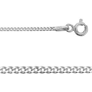 2CD4020: Sterling Silver Curb Neck Chain with Spring Ring