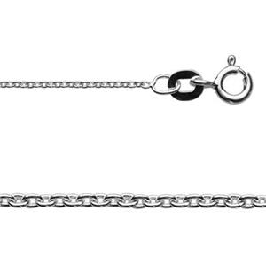 2CL3018: Sterling Silver 1mm Cable Chain Necklace