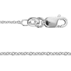 2CL30L18: Sterling Silver Cable Chain with Lobster Claw