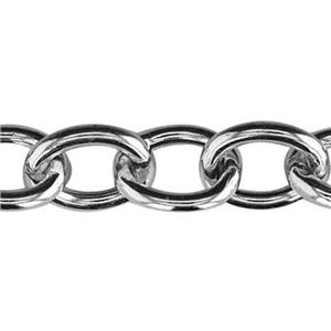2D150: Sterling Silver Hollow Cable Chain